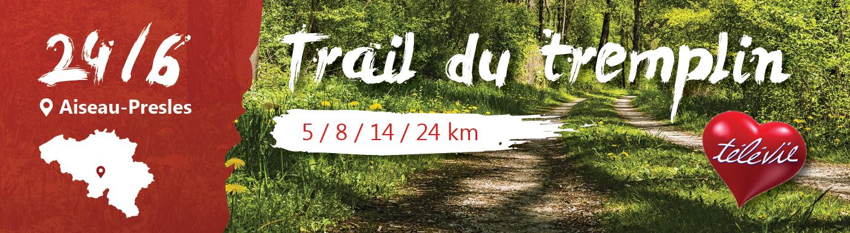 Trail du tremplin le 24 juin à Aiseau-Presles